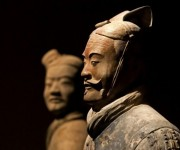 Clay statue of Chinese Qin dynasty soldier